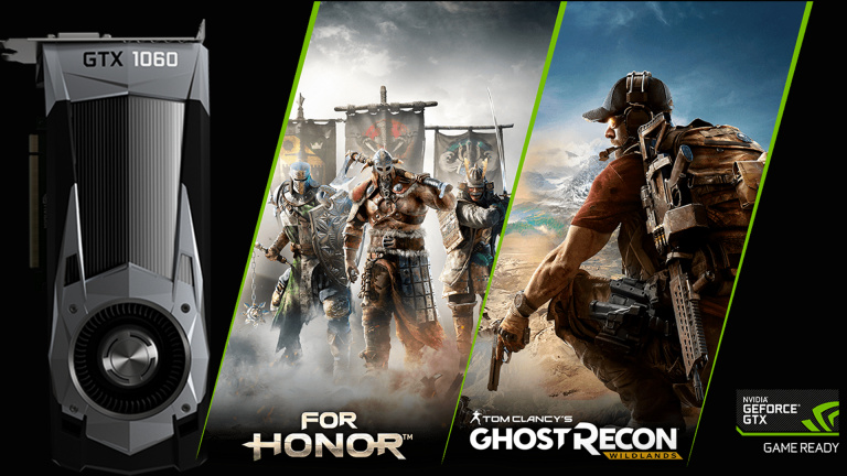 NVIDIA : L'offre de jeux Ubisoft étendue à la GTX 1060