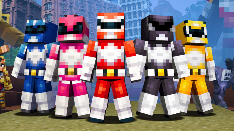les power rangers investissent minecraft avec un nouveau. Black Bedroom Furniture Sets. Home Design Ideas