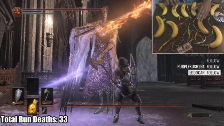 Terminer Dark Souls 3 avec des bananes ? C'est possible !