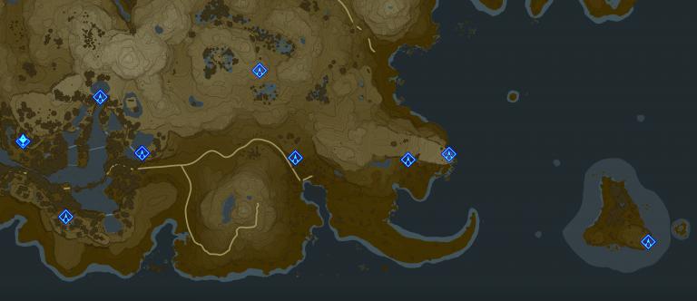 Carte et Sanctuaires de la région de la Tour de Firone (Village d'Écaraille)