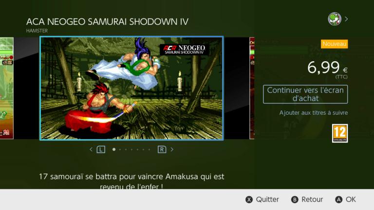 Samurai Shodown IV est disponible sur Nintendo Switch