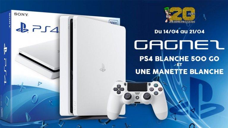 Gagnez une PS4 Blanche 500Go et une manette DualShock 4