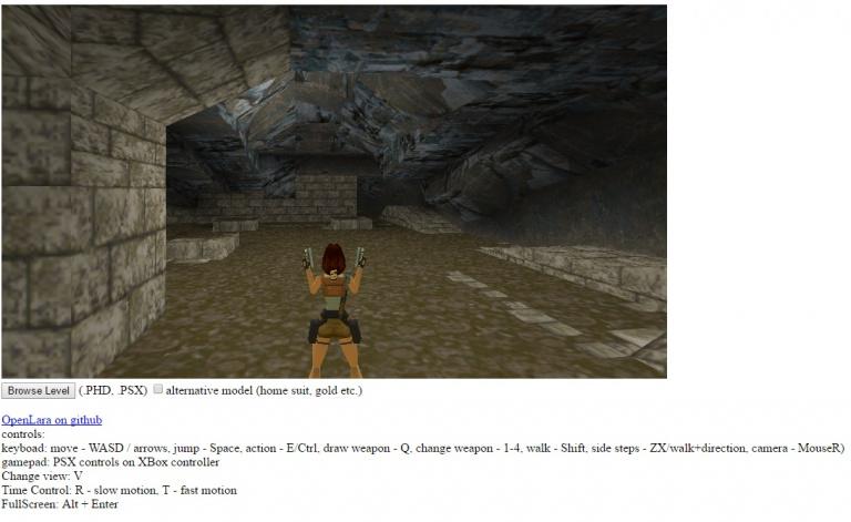 Jouer à Tomb Raider 1 dans son navigateur, c'est possible avec OpenLara
