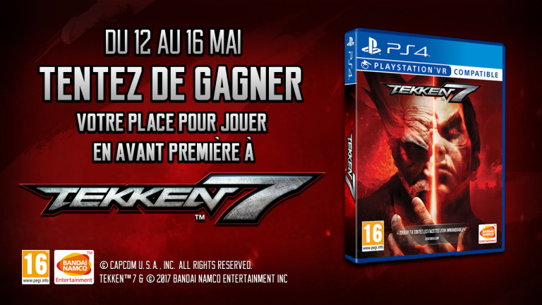 Concours Tekken 7 : Testez le jeu en avant première !