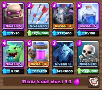 Deck golem air ar ne 7 et astuces et guide clash for Deck arc x arene 7