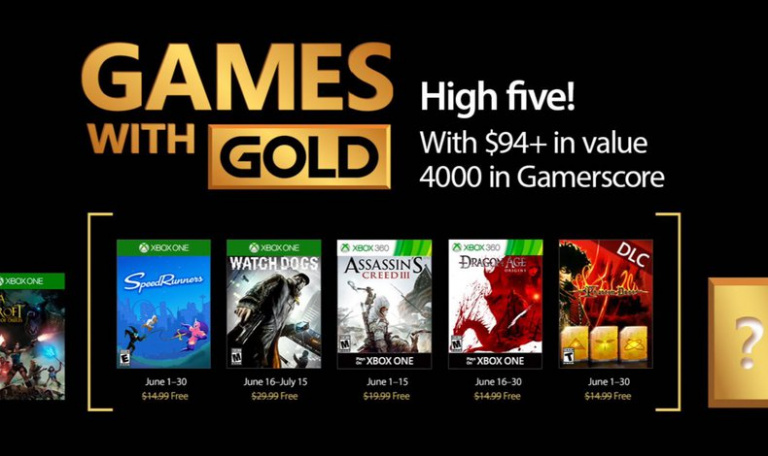 Les jeux Xbox One Games With Gold de Juin officiellement confirmés