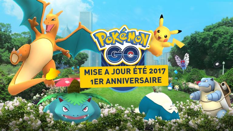 Pokémon GO : MAJ été 2017 1er anniversaire