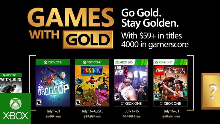 Xbox Live Gold : les jeux gratuits du mois de juillet 2017