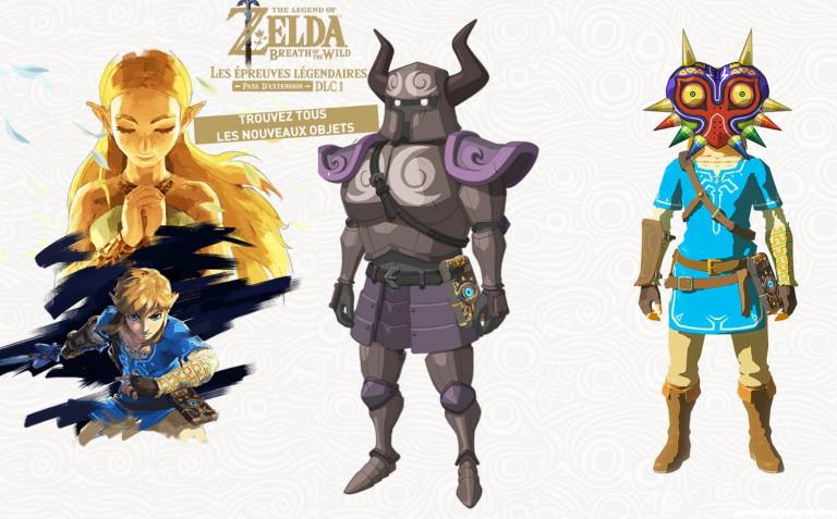 Zelda Breath of the Wild DLC Épreuves Légendaires : masque Majora, armure Spectre... Où sont les nouveaux équipements ?