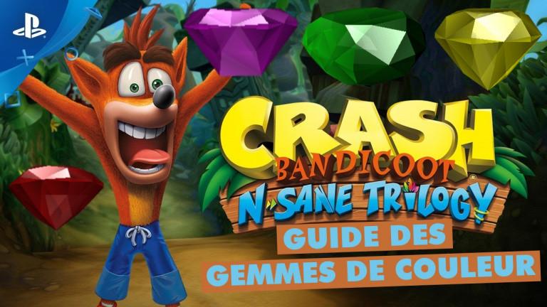 Crash Bandicoot N.sane Trilogy : comment obtenir toutes les gemmes de couleur dans les trois jeux