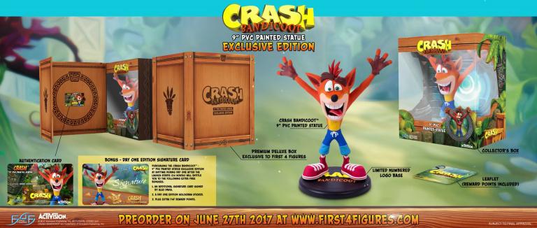 Crash Bandicoot se décline en une figurine de 23cm
