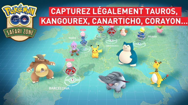 Pokémon Go : les Safari Zones ouvriront leurs portes le 22 juillet