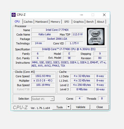 Test des processeurs Skylake-X et Kaby Lake-X : Le cas du Core Kaby Lake-X i7-7740X