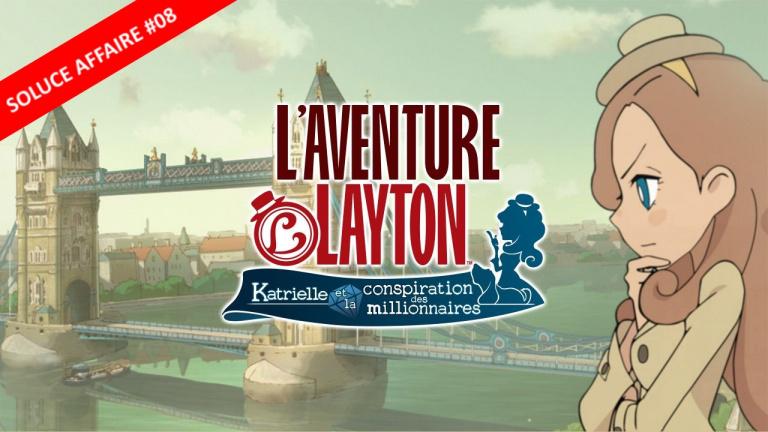 L'Aventure Layton : la soluce de l'Affaire 08 et de ses énigmes en vidéo