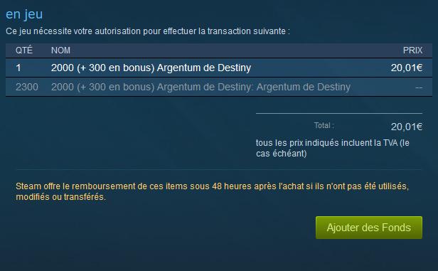 Destiny : de l'Argentum en vente sur Steam !