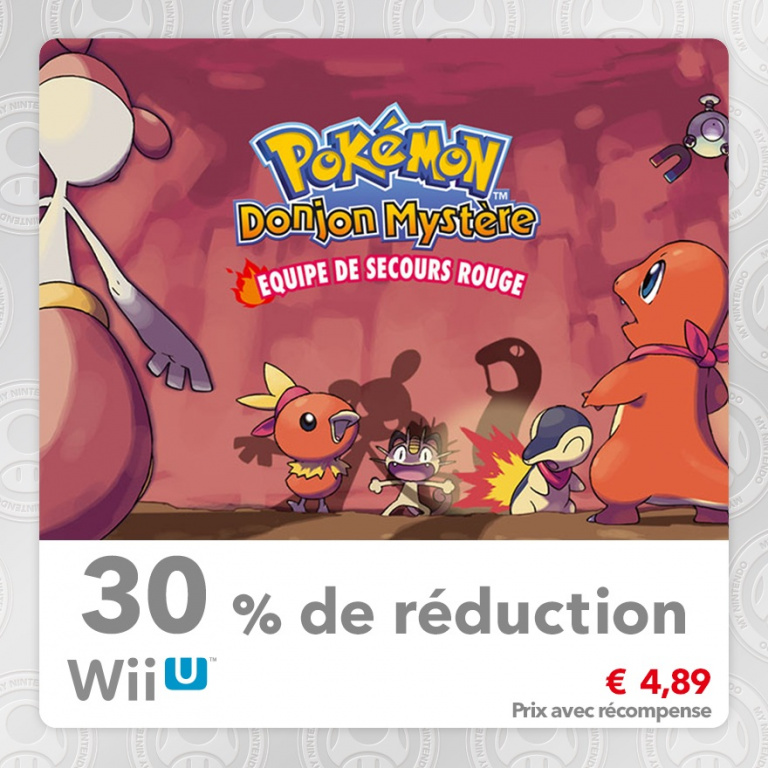 Wii U : Trois Spin-Off Pokémon en promotion sur My Nintendo