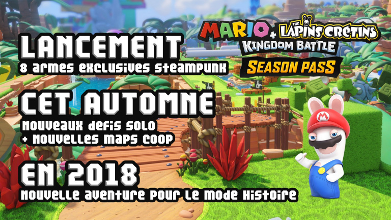 gamescom 2017 : Mario + The Lapins Cretins confirme et détaille son Season Pass