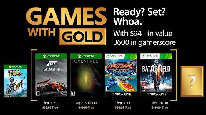 Xbox Live Games with Gold: Les jeux gratuits du mois de septembre 2017