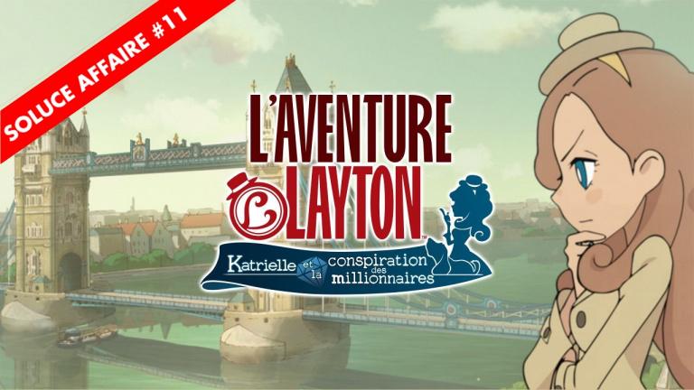 L'Aventure Layton : la soluce de l'Affaire 11 et de ses énigmes en vidéo
