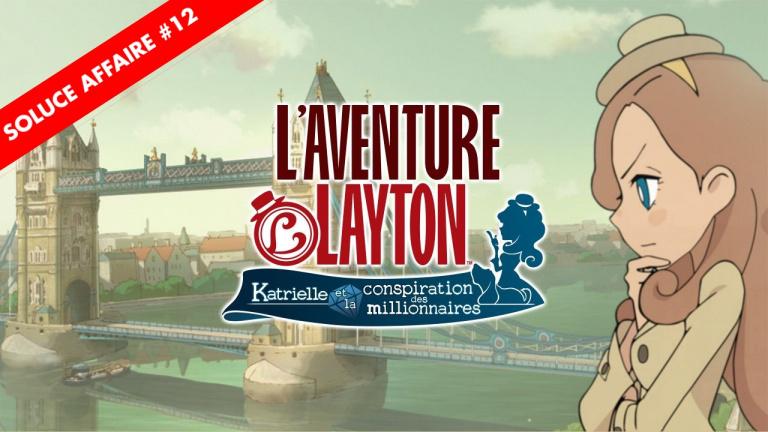 L'Aventure Layton : la soluce de l'Affaire 12 et de ses énigmes en vidéo