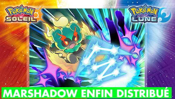 (MàJ) Pokémon Soleil Lune : Marshadow dispo en distribution gratuite ! Où, quand et comment le récupérer ?