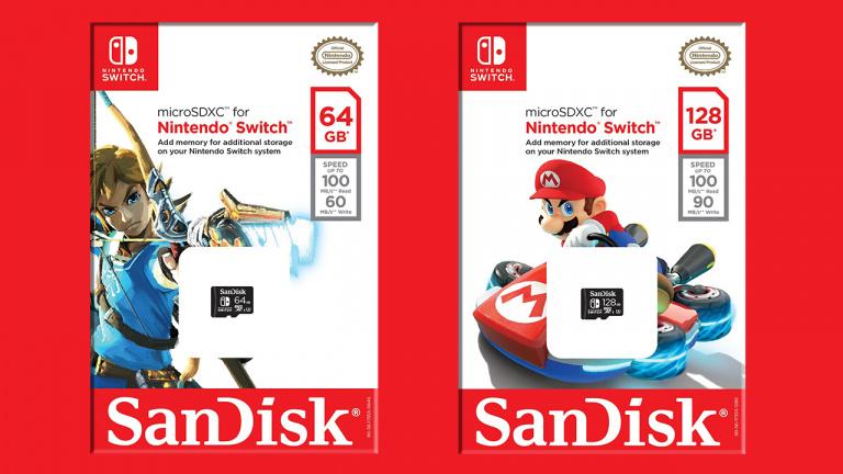 Nintendo Switch: Nintendo annonce la sortie d'une gamme de cartes MicroSD officielles