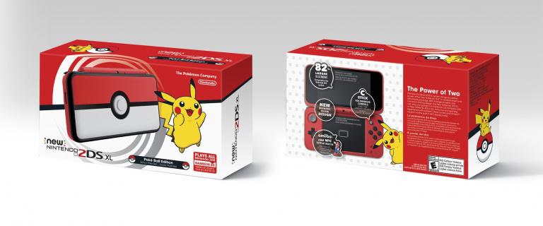 Nintendo annonce la New Nintendo 2DS XL Édition Poké Ball