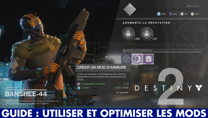 Destiny 2, mods : comment s'en servir et les optimiser ? (guide vidéo)