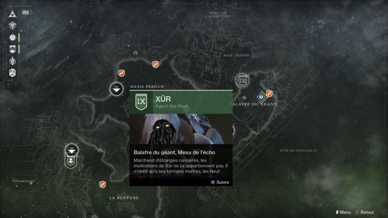 Destiny 2, Xûr : où rencontrer le vendeur d'Exotiques ce week-end ? (29, 30 septembre, 1er et 2 octobre)