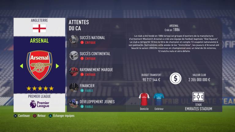 FIFA 18, Mode Carrière : les jeunes les plus prometteurs, le budget des clubs : bien choisir son équipe