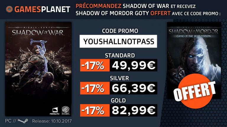 L'Ombre de la Guerre en promotion sur Gamesplanet