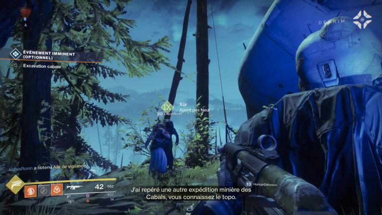 Destiny 2, Xûr : où se cache le vendeur d'Exotiques ce week-end ? (6, 7, 8, 9, 10 octobre)