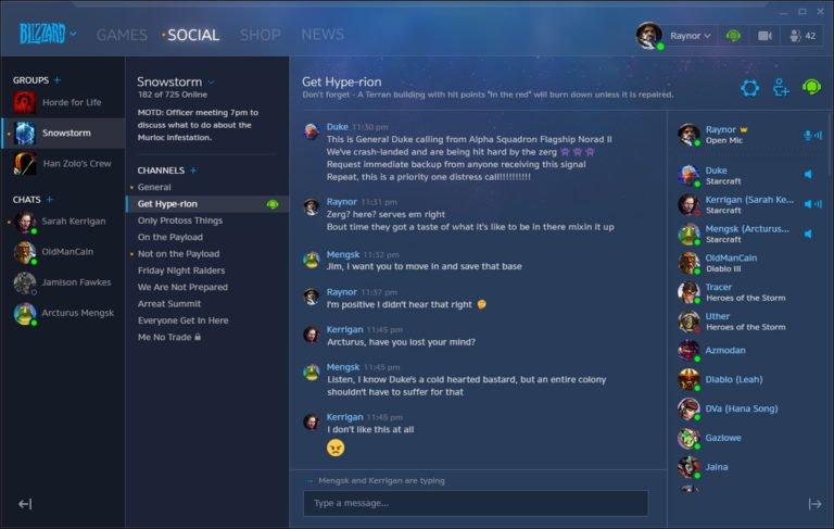 L'application Blizzard ajoute de nouvelles fonctionnalités sociales