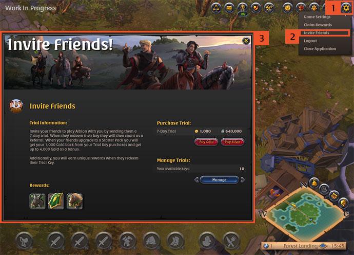 Albion Online : Un programme pour inviter ses amis à jouer pendant 7 jours
