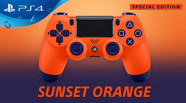 PlayStation 4 : Une manette orange en édition limitée