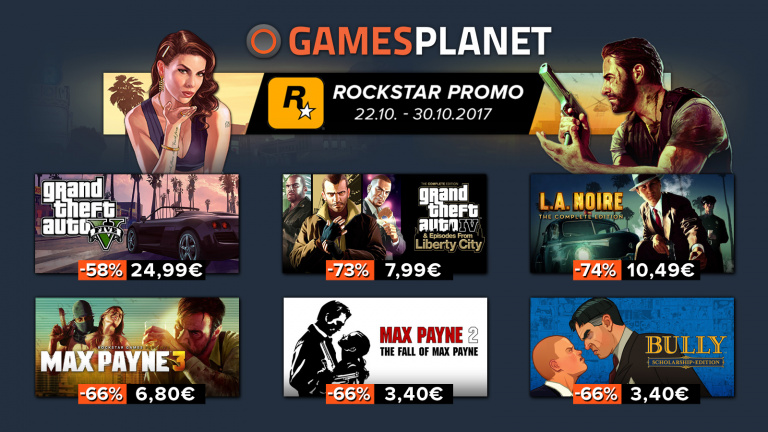 Gamesplanet: Les jeux Rockstar en vente flash