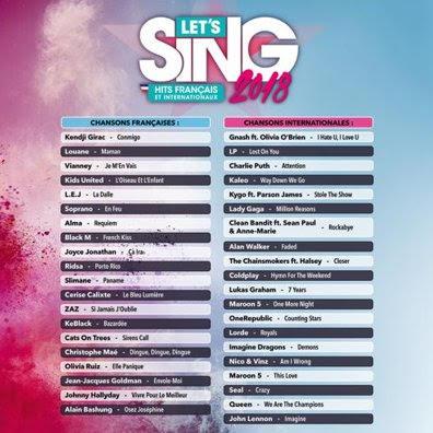 Let's Sing 2018 dévoile son trailer de lancement