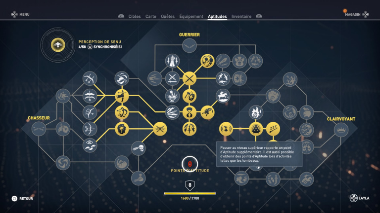 L'arbre de compétence ou comment personnaliser son style de jeu