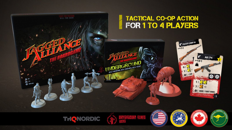Jagged Alliance : Un Kickstarter pour le jeu de plateau
