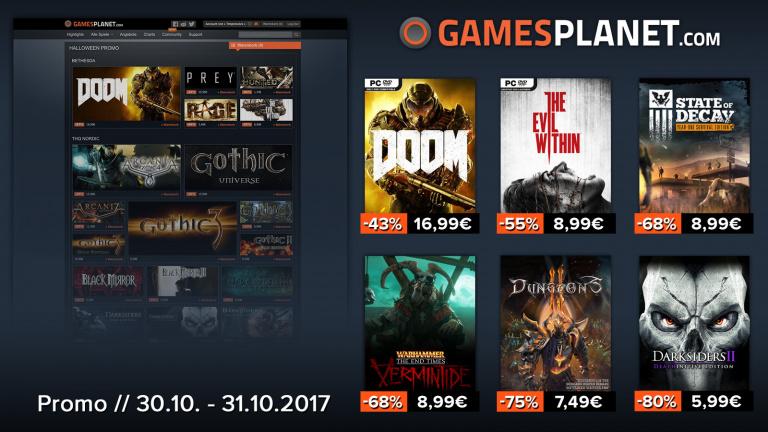 Gamesplanet fête Halloween avec une série de réductions