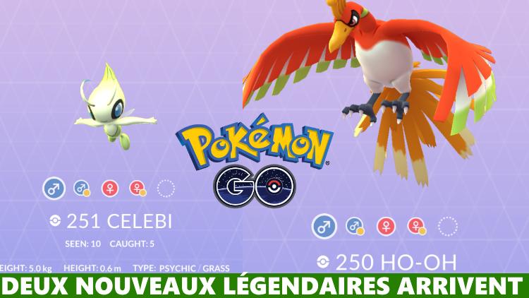 Pokémon GO, mise à jour : Ho-Oh et Celebi, les deux légendaires arrivent dans les raids EX
