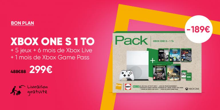 Pack Xbox One S en réduction à la Fnac
