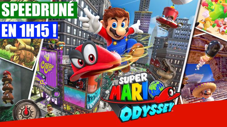 (MàJ) Super Mario Odyssey : finir le jeu en moins de 1h15, c'est possible ! Déjà des speedruns pour le jeu de Nintendo