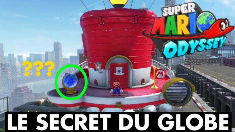 Super Mario Odyssey : le secret du globe terrestre du vaisseau Odyssée