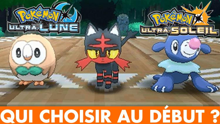 Pokémon Ultra-Soleil / Ultra-Lune : quel Pokémon de départ choisir, notre guide
