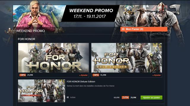 Le Week-End promotion débarque chez Gamesplanet
