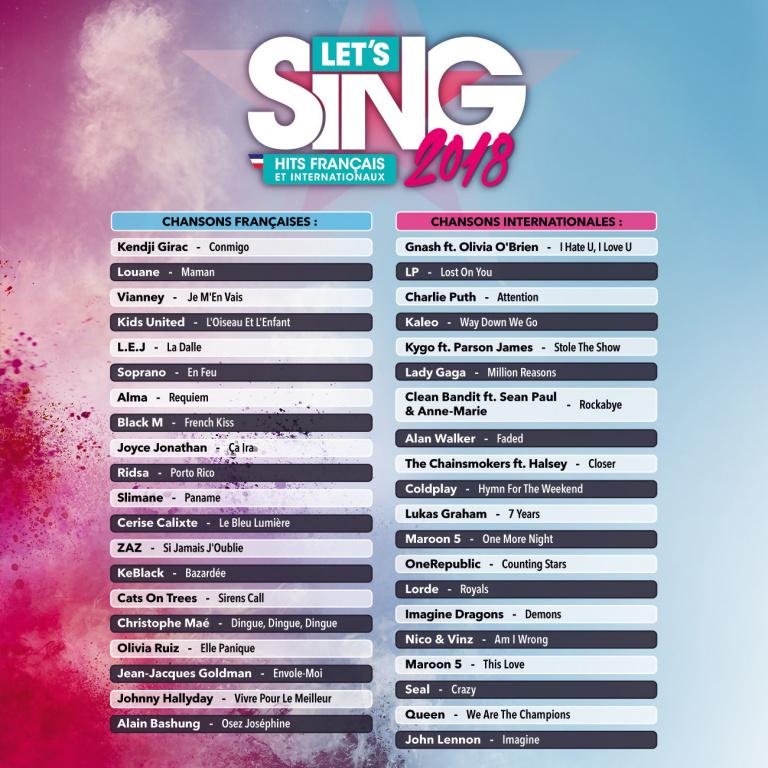 Let's Sing 2018 : Hits Français et Internationaux - Un must have du karaoké ?