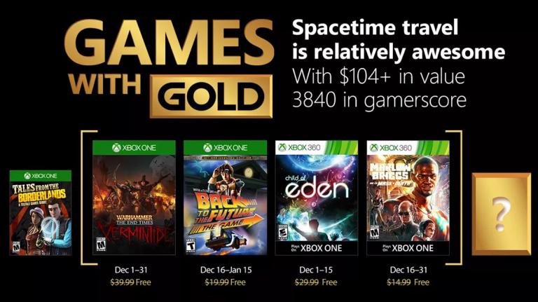 Xbox Live Gold : les jeux gratuits du mois de décembre 2017