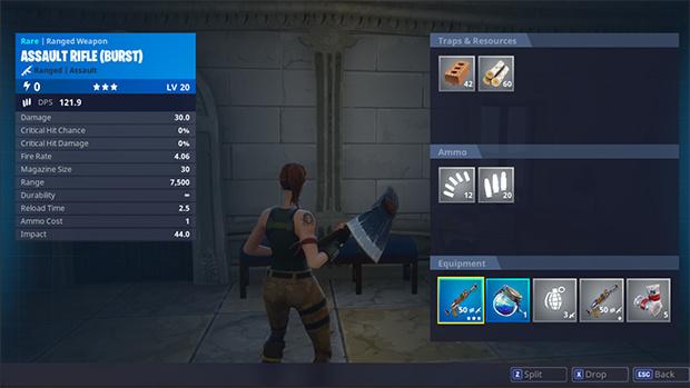 Fortnite : Modification de l'inventaire et mode temporaire dans le patch 1.10