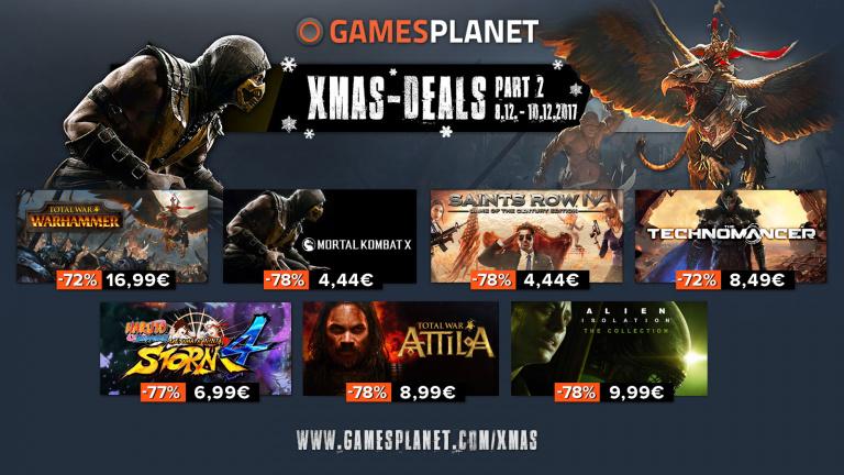 Gamesplanet lance ses XMAS-Deal part II et le rush de Noël continue sur Amazon